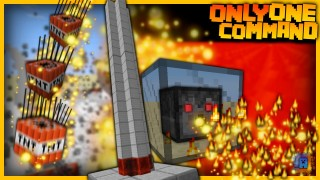Minecraft: Cannon and Flamethrower Only One Command
