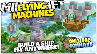Minecraft: Flying Machines Only One Command