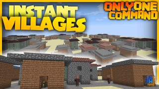Minecraft: Village Generator Only One Command