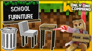 Minecraft: School Furniture Only One Command