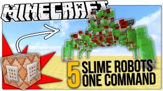 Minecraft: 5 Robots Only One Command