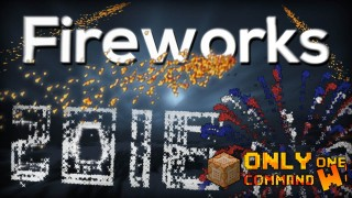 Minecraft: Advanced Fireworks Only One Command