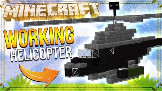 Minecraft: Working Helicopter Only One Command