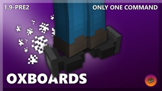 Minecraft: Hoverboard/Oxboard Only One Command