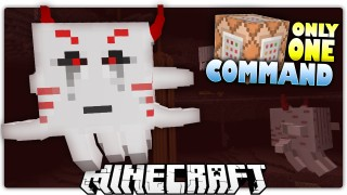 Minecraft: Mutant Ghast's Diamond Treasure Only One Command
