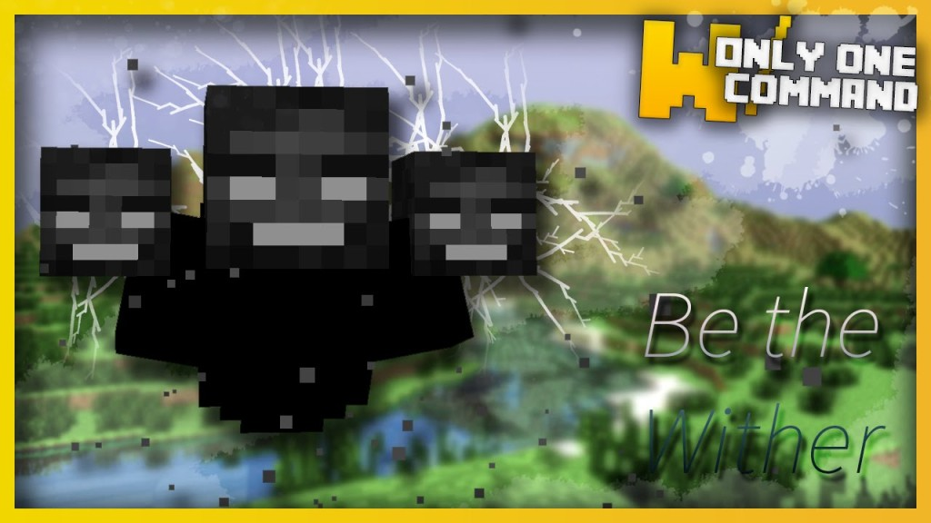 Minecraft play as the wither boss only one command only one command