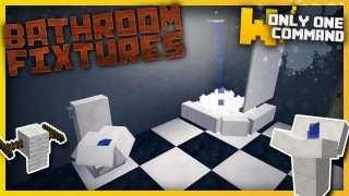 Minecraft: Bathroom Fixtures Only One Command