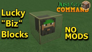 "Minecraft: Lucky ""Biz"" Blocks Only One Command"