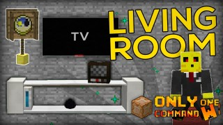 Minecraft: Living Room Furnitures Only One Command