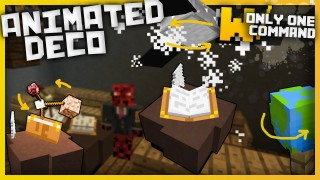 Minecraft: Animated Decorations Ony One Command