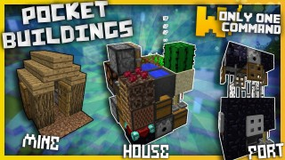 Minecraft: Pocket Buildings Only One Command