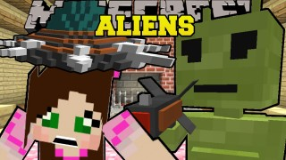 Minecraft: ABDUCTED BY ALIENS! (UFOS, RAY GUNS, & ALIENS!) Only One Command