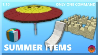 Minecraft: Summer Decorations Only One Command