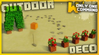 Minecraft: Outdoor Decorations Only one Command