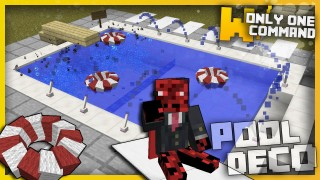 Minecraft: Swimming Pool Decorations Only One Command