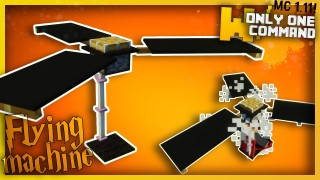Minecraft: Flying Machine Only One Command