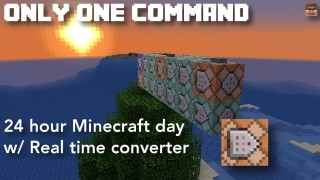 Minecraft: 24 Hour Day Only One Command