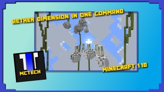Minecraft: Aether Dimension Only One Command