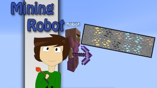 Minecraft: Mining Robot Only One Command