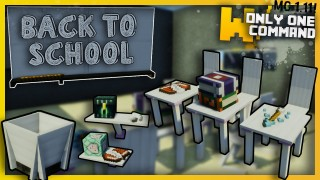 Minecraft: Modern School Furniture Only One Command