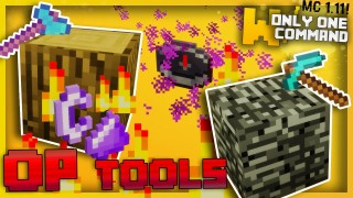 Minecraft: Overpowered Tools Only One Command