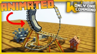 Minecraft: Rollercoaster Only One Command