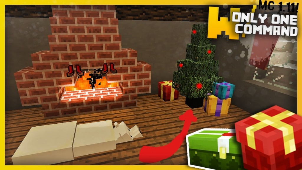 Minecraft: Christmas Decorations Only One Command (1.11 ...