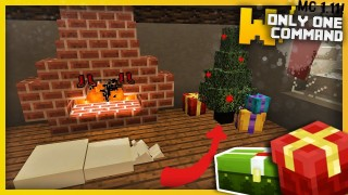 Minecraft: Christmas Decorations Only One Command (1.11)