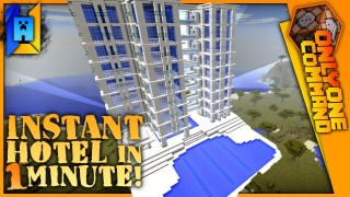 Minecraft: Generate Hotel Only One Command (1.11)