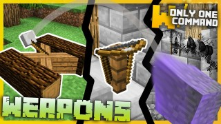 Minecraft: Medieval Weapons Only One Command (1.11)