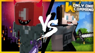 Minecraft: PewDiePie VS YouTube Algorithm Boss Battle Only One Command (1.11)