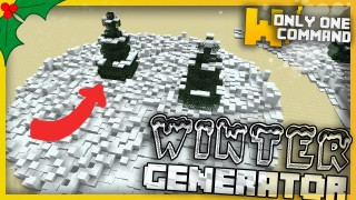 Minecraft: Winter Generator Only One Command