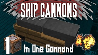 Minecraft: Ship Cannons Only One Command