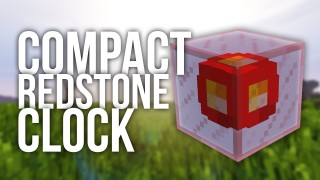 Minecraft: Most Compact Redstone Clock Only One Command (1.11)