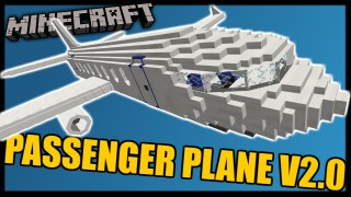 Minecraft: Passenger Plane 2.0 Only One Command