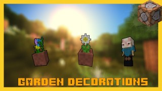 Minecraft: Garden Decorations Only One Command
