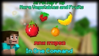 Minecraft: More fruits and Vegetables Only One Command