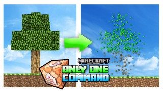 Minecraft: Treecapitator Only One Command