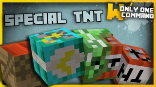Minecraft: Special Types of TNT Only One Command
