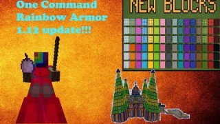 Minecraft: Rainbow Man Boss Fight Only One Command