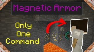 Minecraft: Magnetic Armor Only One Command
