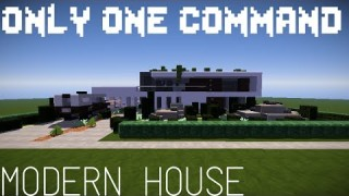 Minecraft: Modern Mansion Only One Command