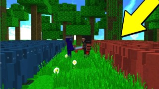 Minecraft: 1000 Red vs 1000 Blue Clay Soldiers War Only One Command