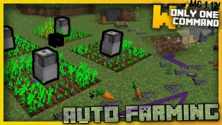 Minecraft: Automatic Farming Machines Only One Command