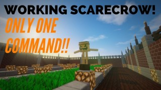 Minecraft: Functional Scarecrow Only One Command