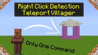 Minecraft: Right Click Detection / TP Villager Only One Command
