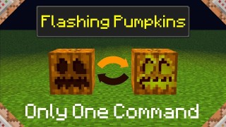 Minecraft: Flashing Pumpkins Only One Command