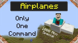 Minecraft: Airplanes Only One Command