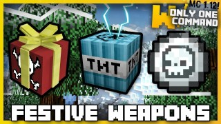 Minecraft: Festive Weapons & Traps Only One Command