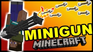 Minecraft: Working Minigun Only One Command
